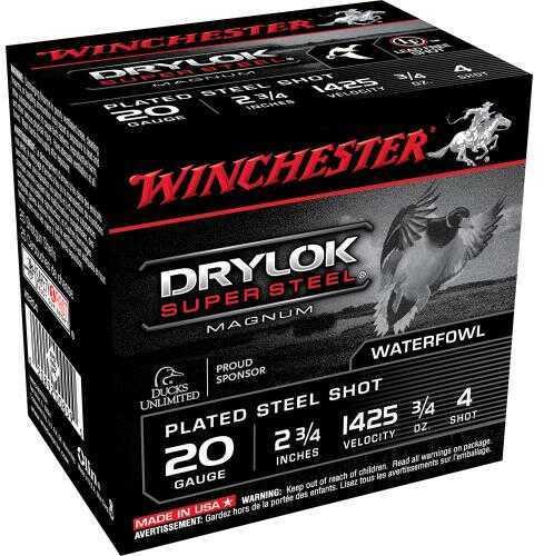 Winchester Drylok Mag 20Ga 2.75In 0.75Oz 4 25/Bx