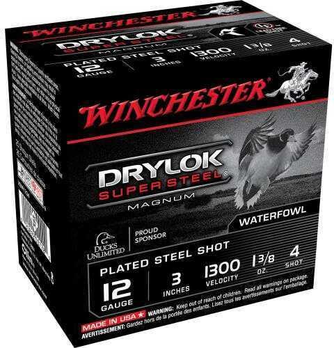 Winchester 12Ga 3In Steel MAGd 1-3/8Oz #4