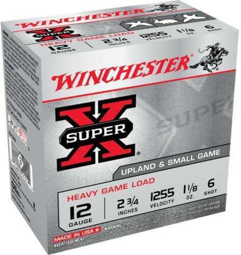 "Winchester 12 Gauge 12 Gauge, 2 3/4"", 1 1/8oz 6 Shot, (Per 25) XU12H6"