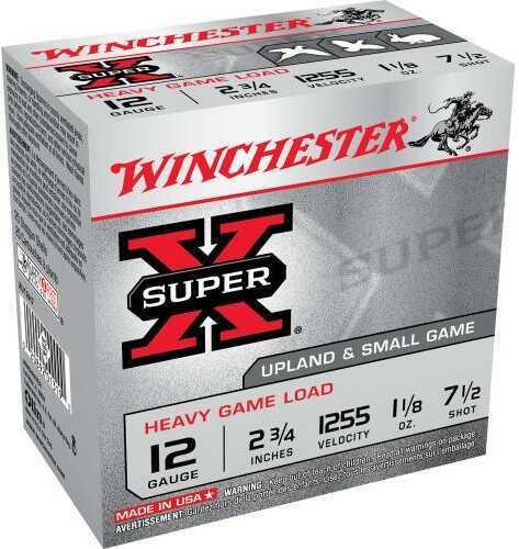 """Winchester 12 Gauge 2 3/4"""", 1 1/8oz 7 1/2 Shot, (Per 25) XU12H7"""