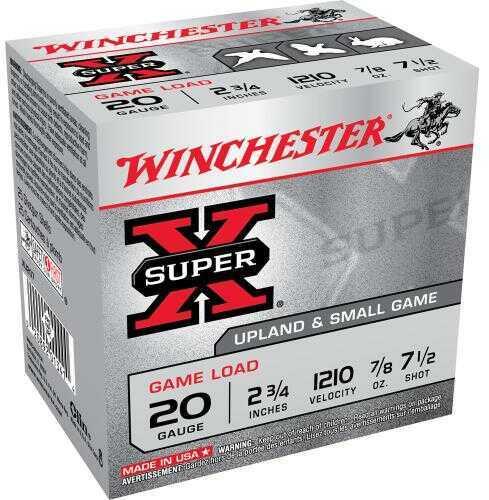 "Winchester 20 Gauge 20 Gauge, 2 3/4"", 7/8oz 7 1/2 Shot, (Per 25) XU207"