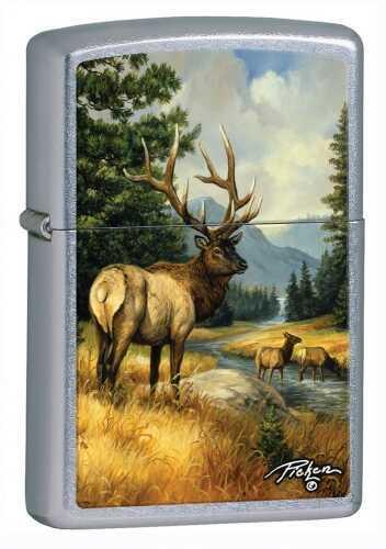 Zippo Lighter Lp - Stag River Street Chrome 28008