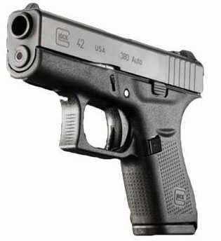 "Glock G42 Semi Automatic Pistol 380 ACP 3.25"" Barrel 6 Round UI4250201"
