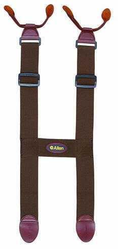 """Allen Cases Allen 2"""" H-Style Button Suspender Brown 10516"""