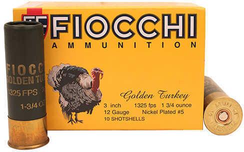 "Fiocchi Ammo Golden Turkey 12ga, 3"" 1- 3/4 Shot Ahells"