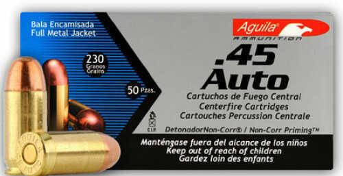 Aguila 45 ACP Full Metal Jacket 230gr Ammunition 50 Per Box