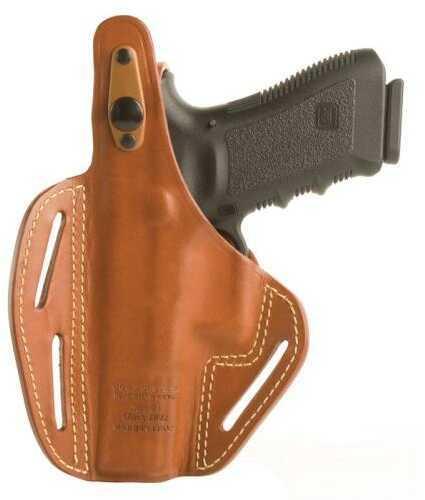 BlackHawk RH S&W MP Compact Leather 3-Slot Pancake Holster-Brown