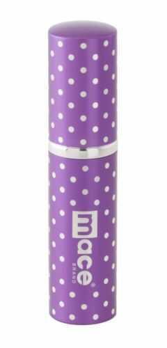 Mace Security International Purse Pepper Spray Purple Polka Dots 80455