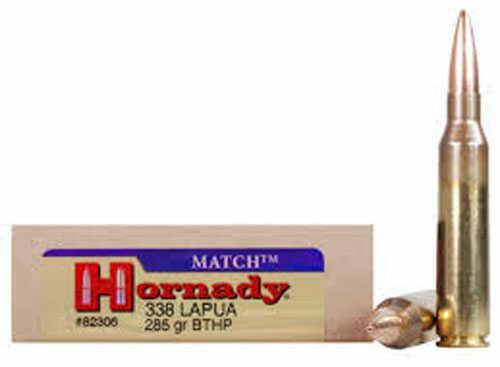 Hornady Match 338 Lapua Magnum 285g Amax 20rds 82301