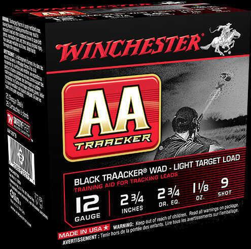 "Winchester Ammo Winchester AA Traacker Shotshells 12ga 2 3/4"" 1 1/8 Oz #9 Shot 25 Rounds Md # AA129TB"
