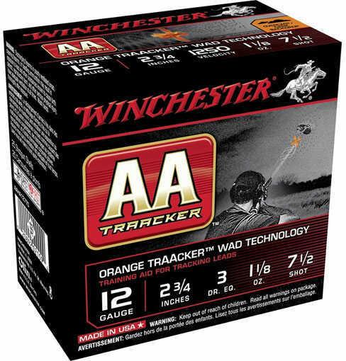 Winchester TRAACKER Orange 12Ga 2.75 #7 1/2 1 1/8 25/10 AAM127TO