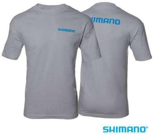 Shimano Cotton T-Shirt- Gray/Large