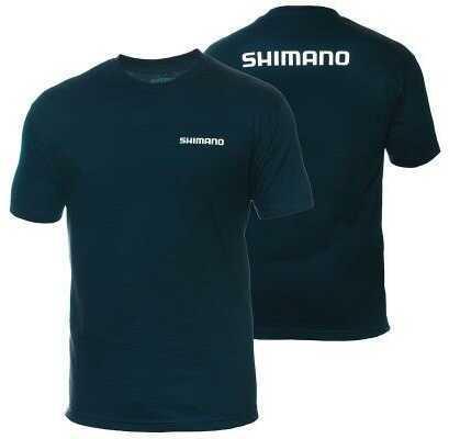 Shimano Cotton T-Shirt- Navy/Large