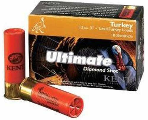"Kent Cartridges Kent Ultimate Diamond Shot Turkey Shotshells 12 Ga 3"" 2Oz 10 rounds Per Box Shotshells"
