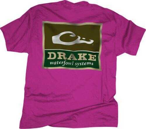 Drake Waterfowl Short Sleeve Logo T-Shirt, Wow Pink, Large Md: DT1941-PNP-3