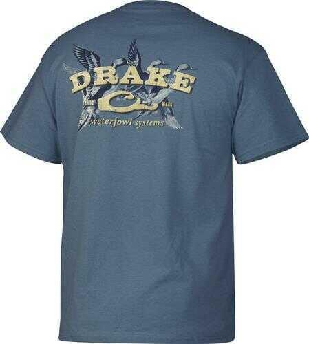 Drake Waterfowl Sprigs S/S T-Shirt, Slate 2XL Md: DT2040-SLA-5