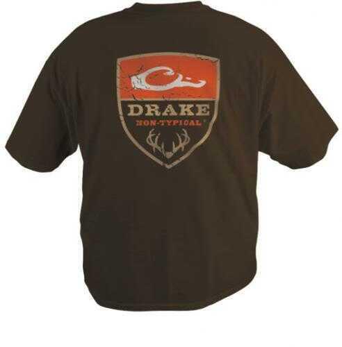 Drake Waterfowl Drake Non-Typical Short Sleeve Logo T-Shirt, Brown, Large Md: DT5000-BRN-3