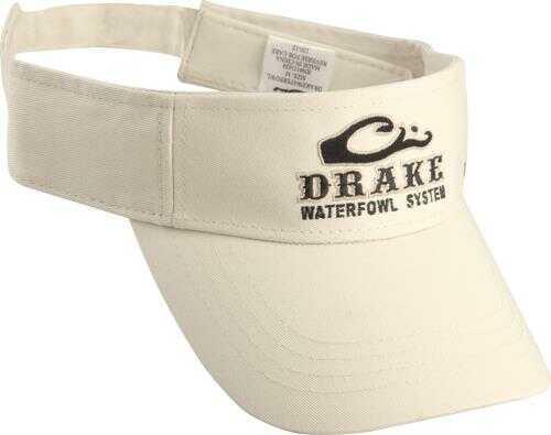 Drake Waterfowl Camo Drake Logo Visor- Tan