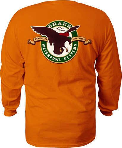 Drake Waterfowl Drake Mallard Ls T Shirt Burnt Orange Medium