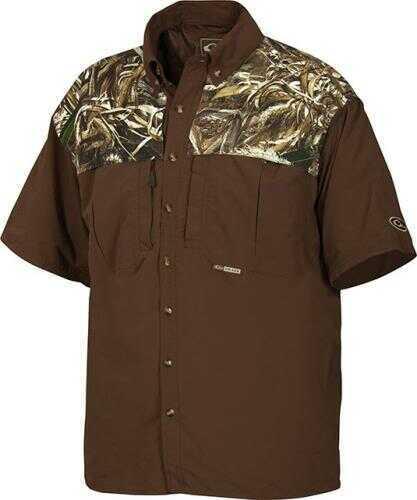 Drake Waterfowl Drake Casual Shirt Navy Short Sleeve Size Xl