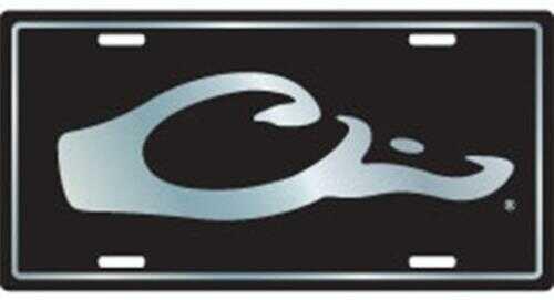 Drake Waterfowl Drake Logo License Plate Black