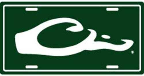 Drake Waterfowl Drake Logo License Plate Green