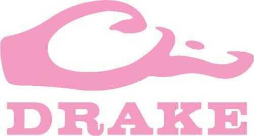 Drake Waterfowl Drake Logo Window Decal Pink