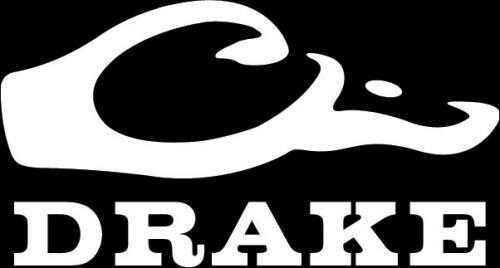 Drake Waterfowl Drake Logo Window Decal White