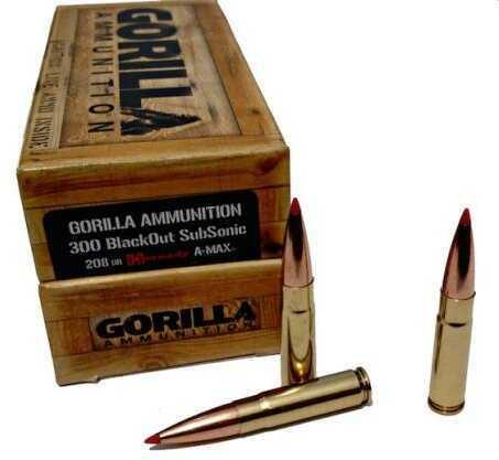 Gorilla Ammunition Company Gorilla 300 Blackout 110gr Controlled Chaos 20 Box