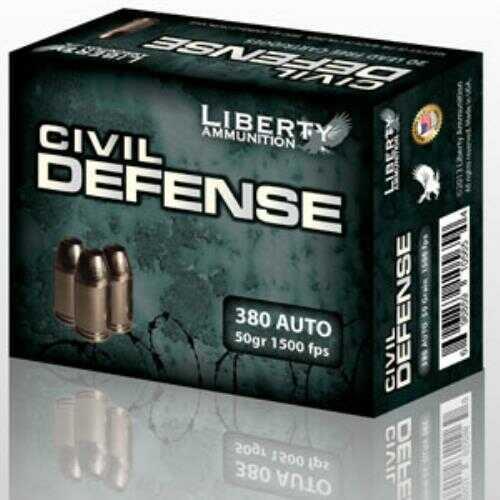 Liberty Ammunition Liberty Civil Defense 380 Auto 50g Hollow-point Ammunition 20 Per Box