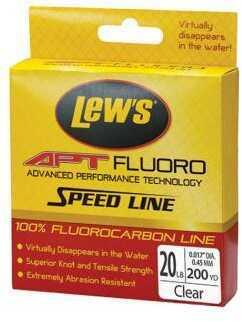 Lew's APT Fluoro Fishing Line, 14 Lb 200 Yard, Transparent Md: LAPTF14NCL