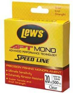Lew's APT Monofilament Line, 20 Lb Test 500 Yards Md: LAPTM20CL