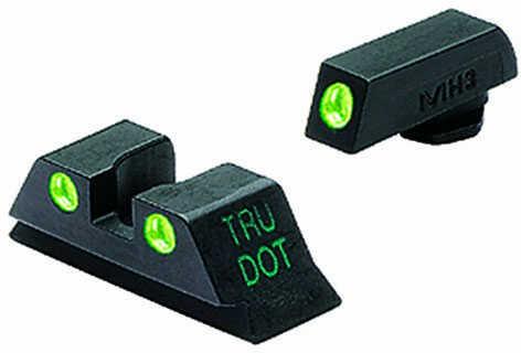 Mako Group Mepro Night Sights Glock 9/357/45g Green/Green Fixed Sights ML10224