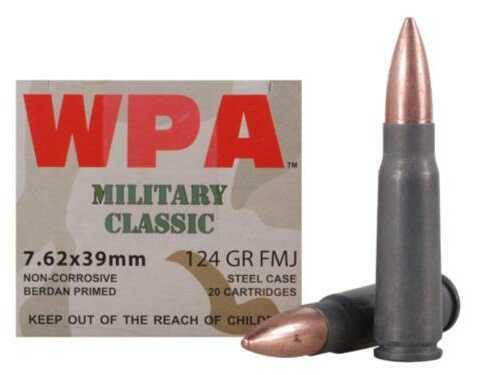 Wolf Performance Ammo 7.62x39 123Gr FMJ 20 Box Md: Mc762BFMJ
