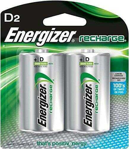 Energizer Recharge Batteries D 2pack