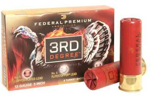 Federal Cartridge 3rd Degree Turkery 12 Gauge 3 Inch 1.75 Ounce Shot #5, 6, & 7 Multi-Shot Ammunition, 5 Per Box Md: P