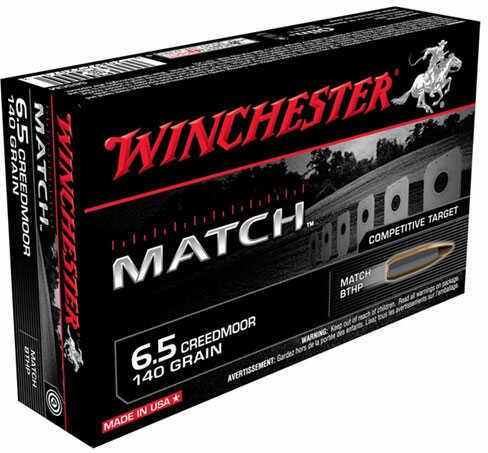 Winchester Match Grade 6.5 Creedmoor Ammo 140 grain BTHP S65CM