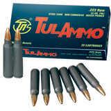 Tulammo Tula 223 Remington 55 Grains Full Metal Jacket Ammunition 20 Per Box