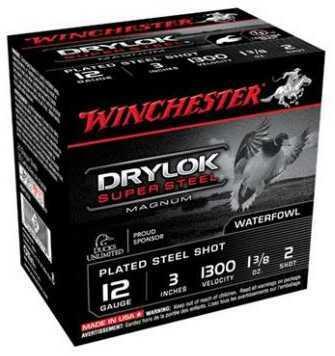 "Winchester 12 Gauge Super-X Drylok Super Steel Magnum Shotshell 3"" #1 Shot 1-1/4 oz. 1375 fps 25 Ro"