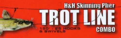 H&H Lure H&H Trotline Combo Package 150ft w/25 Hooks & Swivels Md#: SPTLC150-25