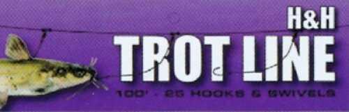 H&H Lure H&H Trotline 100ft w/25 Hooks & Swivels Md#: TL100-25