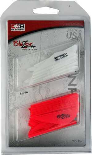 Bohning Blazer Vane Combo White/Hot Pink 36 pk. Model: 101050WH/HP