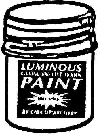 Cir-Cut Corp. Luminous Paint 17912