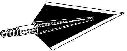 Zwickey Archery Inc Zwickey Black Diamond Delta 11/32 Screw In 2 bld. BH 170 gr. 3/pk. 18414