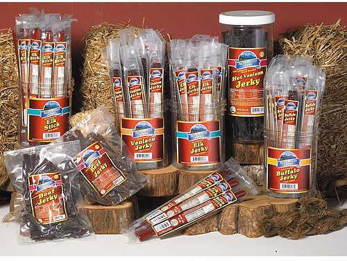 PACIFIC MOUNTAIN FARMS Pacific Mtn Farms Jerky Sticks Jar Hot Venison 30/pk 24426