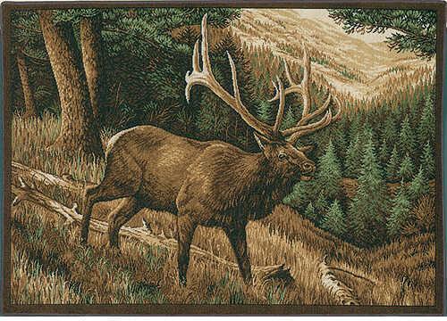 High Country Roaming High Country Elk Rug Nylon 37''x52'' 24533