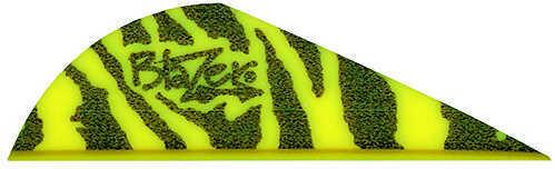 Bohning Archery Bohning Blazer Tiger Stripe Vanes 2 Yellow 36/pk. 28499