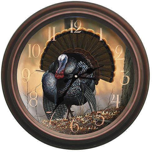 REFLECTIVE ART Autumn Strut Wildlife Clock 16'' 29005