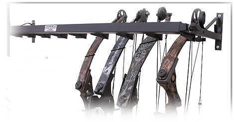 C.W. Erickson's Mfg., Inc. / ArcherHunter CW ERICKSONS MFG INC C.W. Erickson Wall/Ceiling Deluxe Adjustable Bow Display 10 Bow 48''L 30452