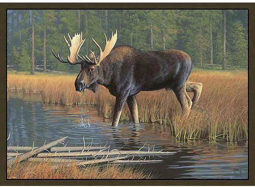 CUSTOM PRINTED RUGS CR Moose Rug Nylon 37''x52'' 32689